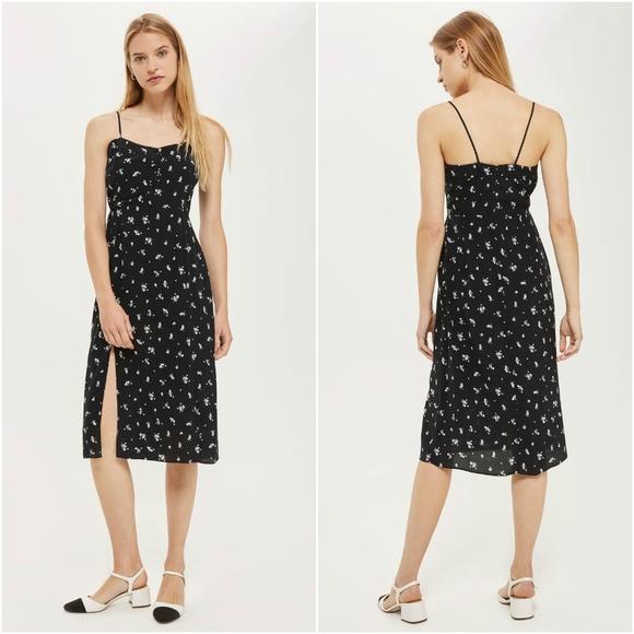 c03a3b8250de Topshop Dresses | Scatter Floral Button Midi Dress | Poshmark